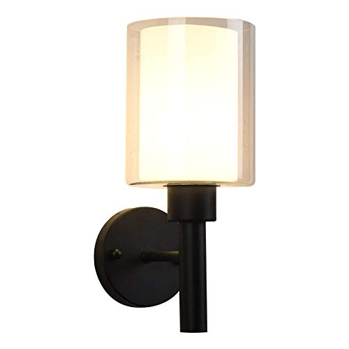 Slaapkamerlampen eenvoudige moderne smeedijzeren wandlamp gang gang gang lichten Nordic creatieve persoonlijkheid woonkamer slaapkamer ideeën