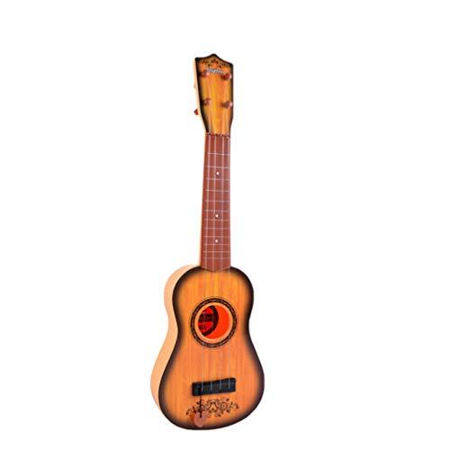 NUOBESTY Kinder Akustikgitarre Ukulele Spielzeug Viersaitige Gitarre Mini-Gitarre Spielt Musikinstrumente Lernspielzeug für Anfänger Anfänger Kinder Kind Spielen (Zufällige Farbe)