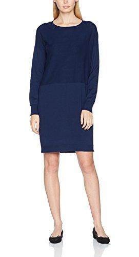 Q/S Designed by Damen 41709822352 Kleid, Blau (Blueprint 5699), Medium