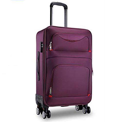 Waterproof Oxford Rolling Luggage Spinner Men Business Brand Suitcase Wheels,Purple,20