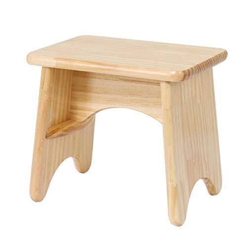 Yxsd Taburete pequeño de madera para niños, taburete bajo, de madera maciza, taburete pequeño, multifunción, para el hogar, creativo, color natural, tamaño: 25 cm)