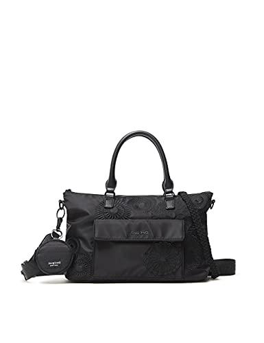 Desigual BOLS_MANDARALA Padua PC, Mano Bag para Mujer, Negro, Einheitsgröße