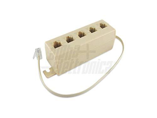 IRPot - Telefonanschlussbuchse, 5 Stecker, RJ11, 6-polig, 001200013