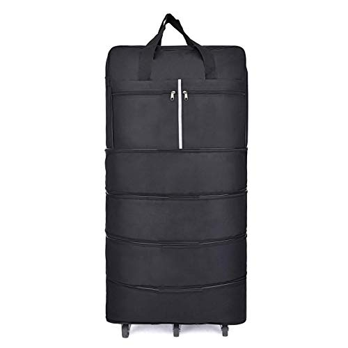Folding Wheeled Duffel Bag, Rolling Travel Ripstop Extra Large Carry-On Bag (6 Rotatable Wheel) - 42Inch