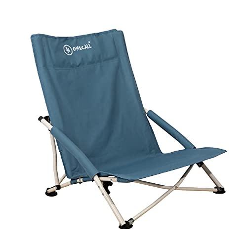 Homecall - Silla de playa plegable (azul)