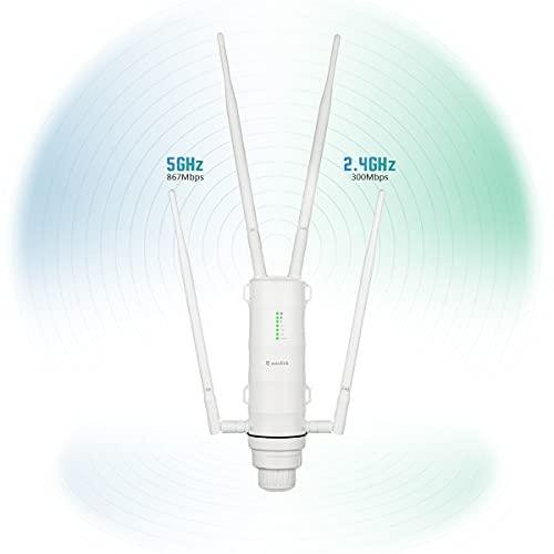 WAVLINK AC1200 Repetidor WiFi para exteriores/ Punto de acceso/ Router con POE,...