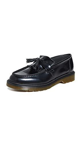Dr. Martens - Unisex-Adult Adrian Tassle Loafer, Size: 10 D(M) US / 9 F(M) UK / 11 B(M) US, Color: Black Polished Smooth
