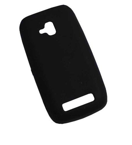 Handy-Punkt Silicone Case Cover per Nokia Lumia 610/Silicon Custodia Protettiva Case Black