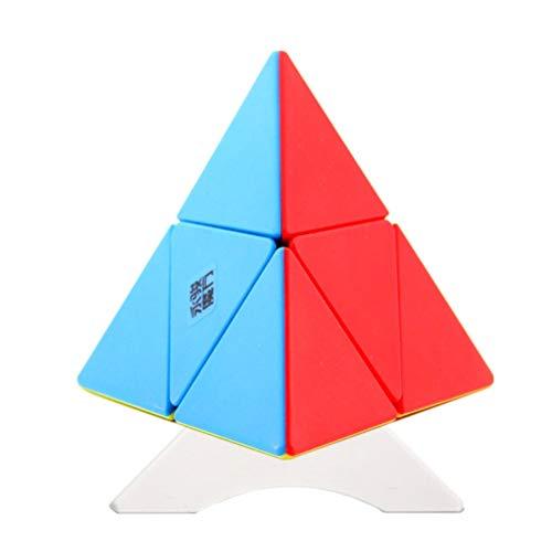 OJIN YongJun YJ 2x2 Pirámide Suave Pyraminx 2x2 Rompecabezas de Cubo Triángulo de pirámide Tetraedro de Cuatro Ejes Rompecabezas Pyraminx con un trípode de Cubo (Sin Etiqueta)