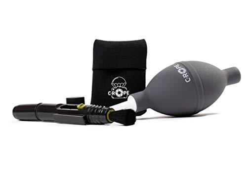 C-Rope Reinigungsset, 3-teilig mit Lens Blower, Lens Pen und Mikrofasertuch für DSLR Kamera, Objektive, Filter