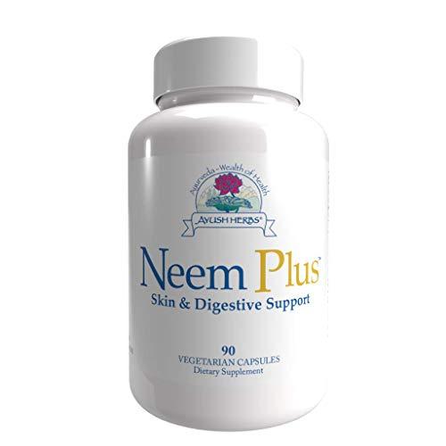 Ayush Herbs Neem Plus Herbal Supplement, 90 Capsules