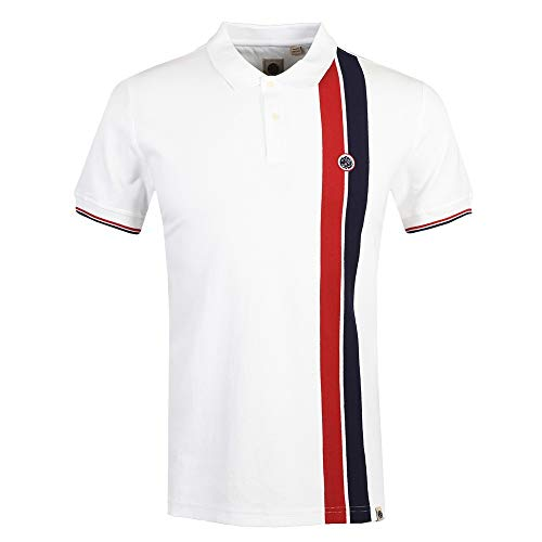 Photo of Pretty Green – Colour Block Polo Shirt, White