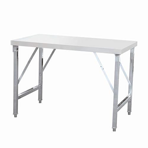 Tisch aus Edelstahl, klappbar für Gastro, Arbeitstisch 120 cm oder 150 cm lang, tisch klappbar:Tisch 150