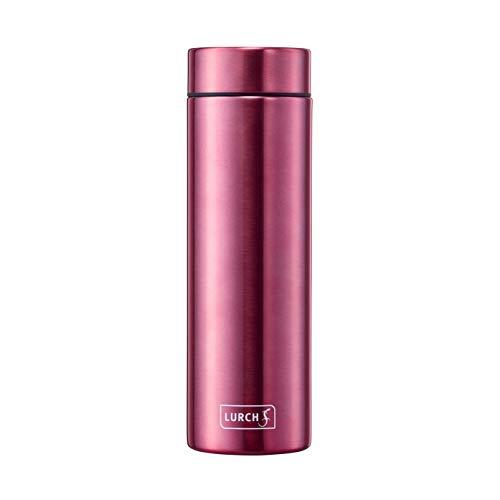 Lurch 240954 Isolierflasche Lipstick / Thermoflasche für heiße und kalte Getränke aus doppelwandigem Edelstahl 0,3 l berry red