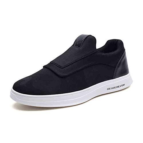 YIWU 2018 Koreanische Version des Trends Der Herrenschuhe Wild Casual Canvas Schuhe Männer EIN Pedal Faule Flut Schuhe Sneaker (Farbe : Schwarz, Size : EU43/UK9/CN44)