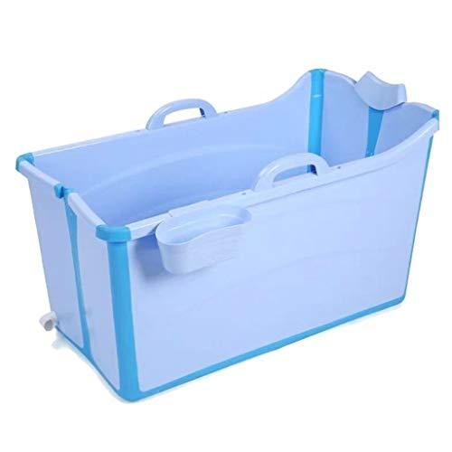 GLokpp Bañera Plegable for Adultos Piscina de plástico for bebés Baño for niños Barril Bañera portátil for el hogar, bañera Bañera de remojo portátil, bañera portátil Plegable Grande (Color : A)