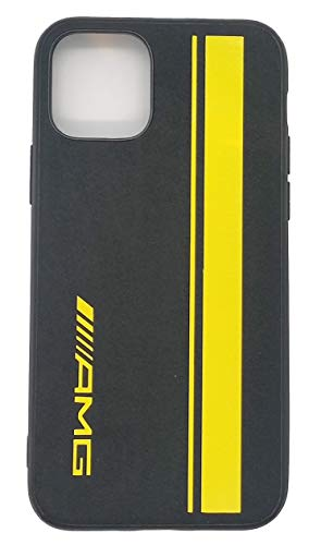 Funda Alcantara para Coche Deportivo Linea Amarilla para iPhone 11 Pro