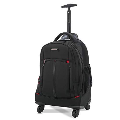 """Aerolite 21\"""" 4-Rad Trolley Rucksack Laptop-Tasche Handgepäck Business-Taschen Rucksack - Zugelassen für Lufthansa, Air Berlin, Ryanair (Schwarz)"""