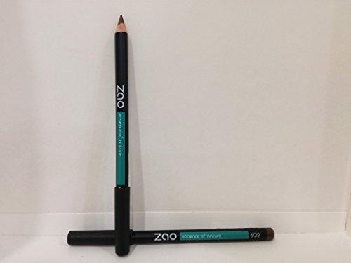 ZAO Holzstift 602 dunkelbraun Kajal Eyeliner Augenbrauenstift Lipliner (bio, Ecocert, Cosmebio,...