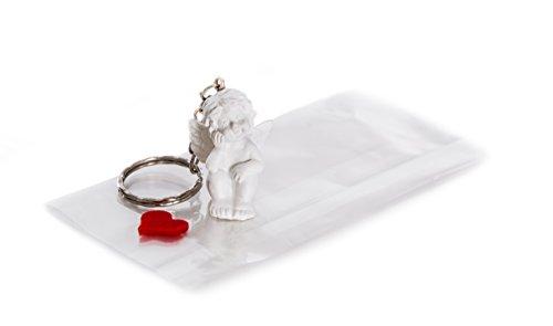 25 kleine Mini Engel Schlüsselanhänger einzeln verpackt Herz rot - Schutzengel als Gastgeschenk give-away Mitgebsel Weihnachten Geburtstag Taufe Kommunion Fest Hochzeit zur Tischdeko