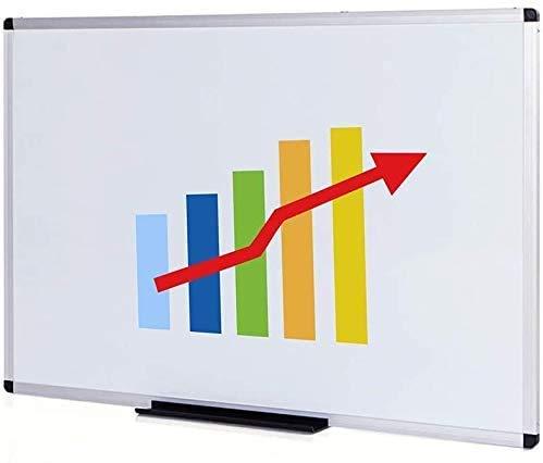VIZ-PRO Dry Erase Board/Magnetic White Board, 48 X 32 Inches, Silver Aluminium Frame