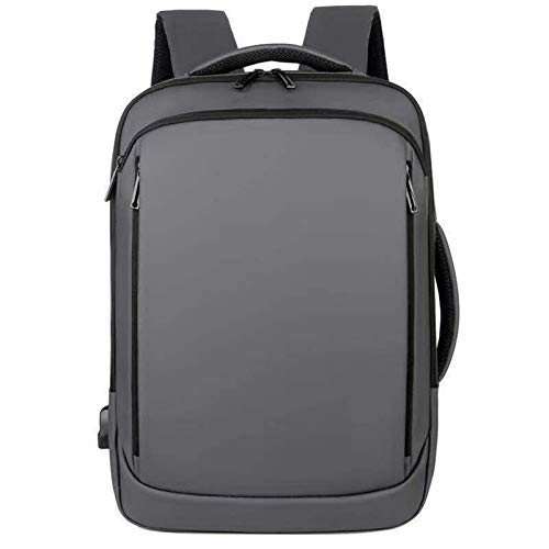 15.6 Pulgadas Mochila Portátil Mesas para Hombre Notebook Paqueta Trasera Impermeable USB Bolsa De Carga Viaje Bagpack Mochila Masculina (Color : Gray)