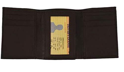 Kings Apparel Handgefertigte Geldbörse aus echtem Leder - Braun - Dreifachgefaltet