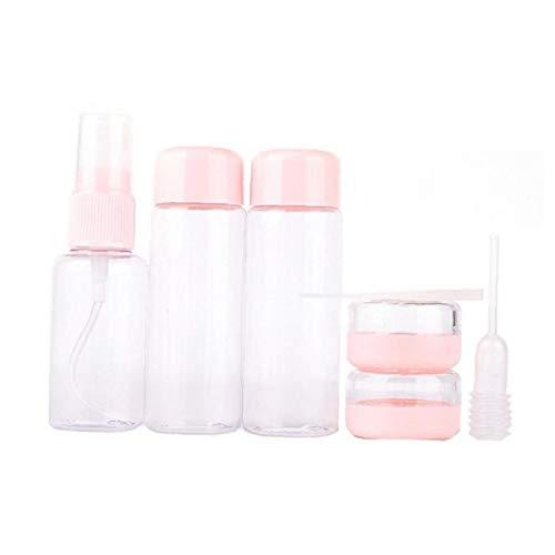 xiaocheng Botellas Portátiles De Viaje Artículos De Tocador Envases Rellenables para El Champú Loción Cosmética Spray De Color Rosa Suave Lindo Regalo