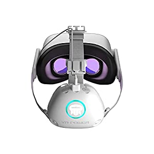 Rebuff Reality VR Power for Oculus Quest and Quest 2 - 10,000mAh, 8 hrs Playtime, 10 hrs Video Steaming - 3X Type-C Connections - Counter Balance with Improved Comfort - Power Ring LEDs Indication