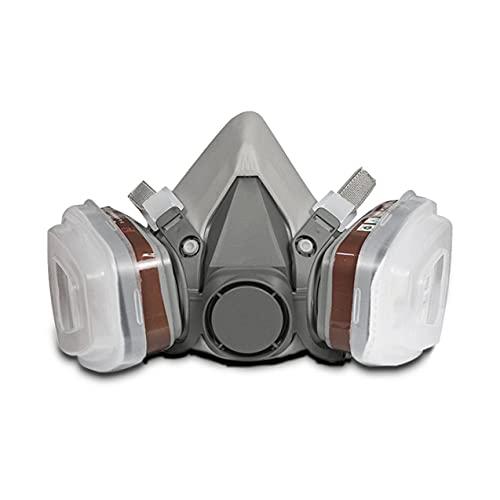 ヘッドマウントガス保護マスク6200シリコンガスマスク+ no.3フィルターボックス人間保護マスクスプレーペイント特殊マスク