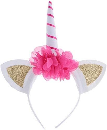 SLL Spielzeug Spielzeug-lustige Unicorn Horn Blumen-Stirnband Gold-Ohr-Abendkleid-Kind-Mädchen-Partei Cosplay Haarband Geschenk