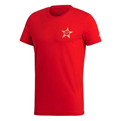 adidas Men Tshirts Football Russia Tee World Cup 2018 FIFA Running (XS) Red