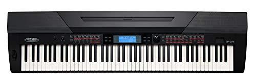Classic Cantabile SP-250 BK Stagepiano (88 Tasten, Hammermechanik, Anschlagdynamik, Polyphonie: 128, 600 Sounds, MIDI, USB, Aufnahme- & Begleitfunktion, inkl. Notenständer und Netzteil) schwarz