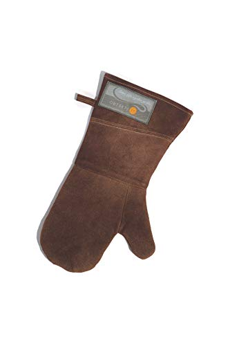 Outset F232 Leather Grill Mitt, Brown