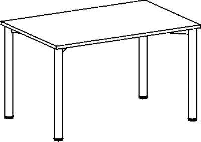 Konferenztisch, BxTxH 1200x800x720 mm, 4-Fuá-Geste ll, Platten-/Gestellfarbe buche/anthrazit