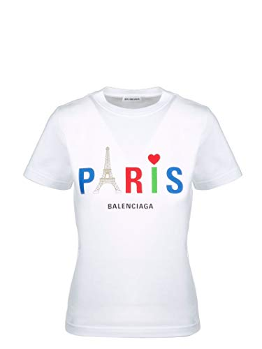 Luxury Fashion | Balenciaga Dames 578133TGV439000 Wit Katoen T-shirts | Lente-zomer 20