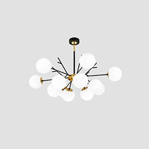 Pointhx Lámpara de techo LED minimalista nórdico con diseño de frijol mágico para decoración de hierro para colgar escaleras, cafeterías, pasillos, restaurantes, cocinas, islas