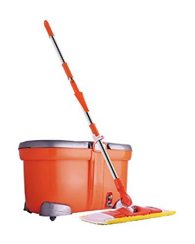 EDEN® Spin Mop - 2in1 Bodenwischer set, Bodenreiniger und Eimer, Reinigen ohne Bucken
