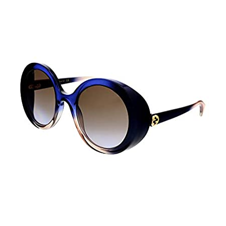 Fashion Shopping Gucci GG 0367S 004 Multicolor Plastic Round Sunglasses Brown Gradient Lens