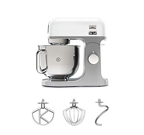 Kenwood KMX750WH Impastatrice Planetaria Kitchen Machine kMix, Robot da Cucina Mixer, 1000 W, 6 velocità, 5 Litri, Acciaio, Plastica, Bianco