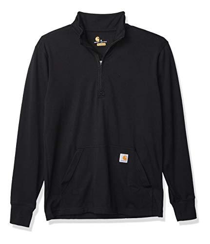 Photo of Carhartt Mens Half Zip Thermal Long Sleeve T Shirt Black