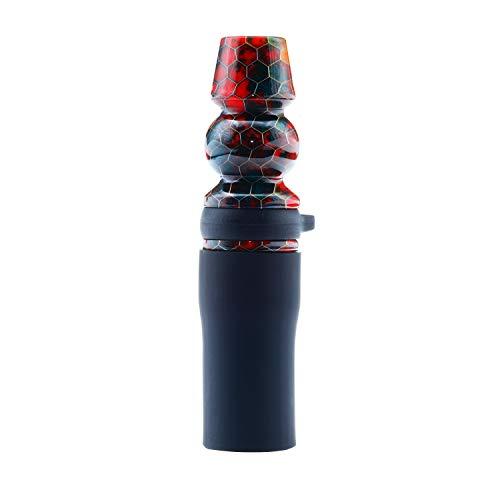 Afoosoo Juego de puntas para cachimba Narguile Crowd de lujo con elegante correa de piel exclusiva VIP para destacar de la cachimba Narguile Crowd (MEST-Colorful)