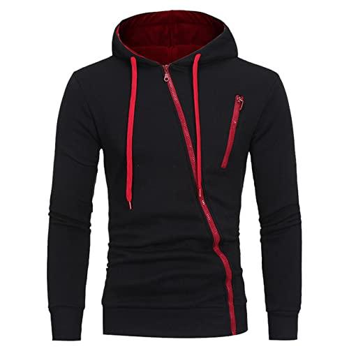 hombres otoño invierno ropa casual sudaderas con capucha hombres cremallera deportes, 1, L