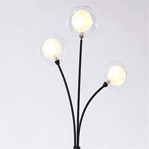 Network red Bulb, Modern Fashion Creative lamp, a Button Switch, for a Living Room Study Bedroom Bedside (Color : Black)