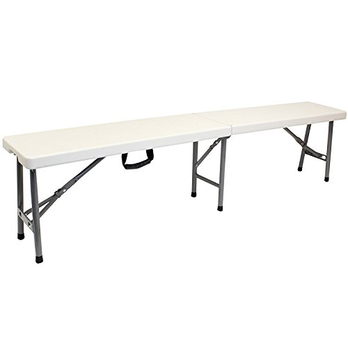 Oypla 6ft Portable Folding 4 Person Heavy Duty Outdoor Trestle Bench