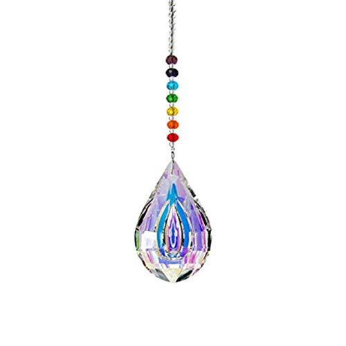 BESPORTBLE Pendurado Prisma Facetado Bola de Cristal Coletor de Sol Pirâmide Pingentes de Arco-Ãris Fabricante Lustre Gotas Lâmpada de Teto de Cristal Iluminação Pingentes