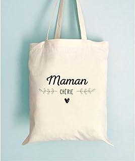 Tote bag Maman Chérie - idée cadeau fêtes des mères - Pratique et tendance, imprimé en France