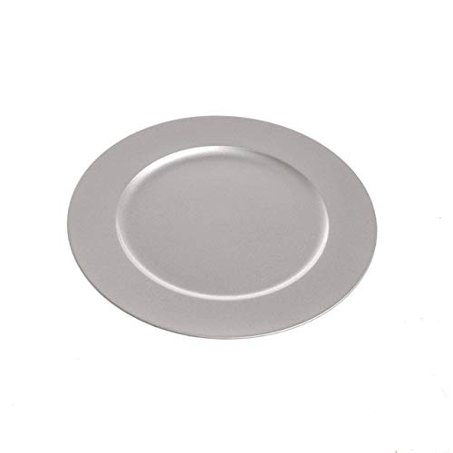 20cm Silver Charger Plate for Side Plates Starters Desserts Snacks Metallic Silver Christmas Dining