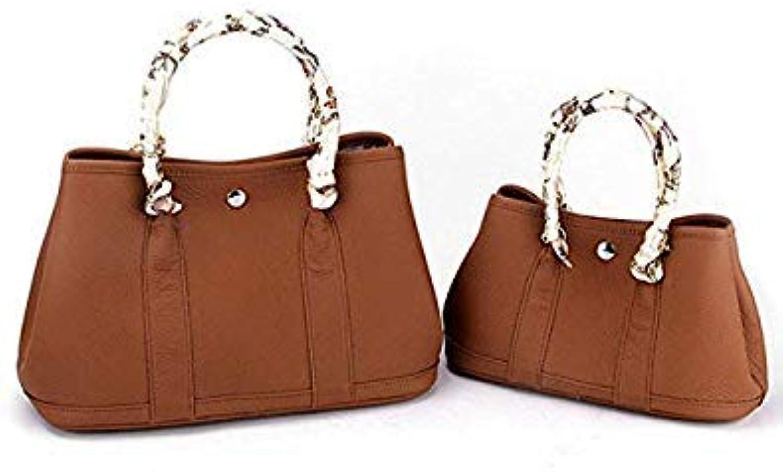 Bloomerang Burminsa Genuine Leather Bags Women Luxury Garden Party Tote Designer Handbags High Quality Female Shoulder Crossbody Bags color Brown Hot Sale Medium