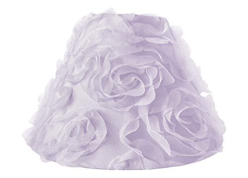 Sweet Jojo Designs Purple Floral Rose Lamp Shade - Solid Light Lavender Flower Luxurious Elegant Princess Vintage Boho Shabby Chic Luxury Glam High End Roses